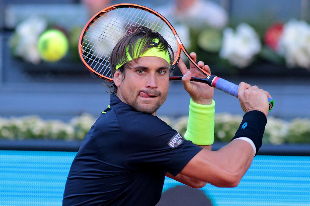 Madrid, Spain. 7th May 2015: David Ferrer, during the ATP Mutua Madrid Open match against Fernando Verdasco at the Manolo Santana stadium. (Photo: Ivan Abanades Medina).